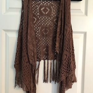 Crochet and lace vest